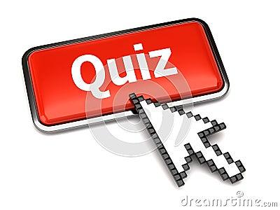 Quiz button and arrow cursor