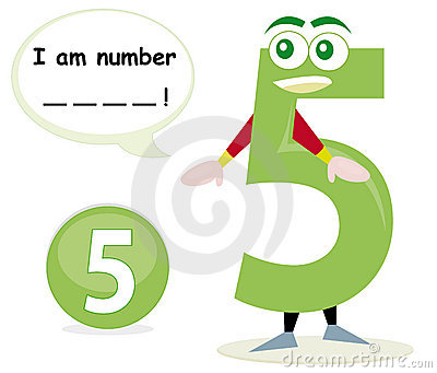Quiz game with number five