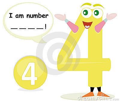 Quiz game with number four