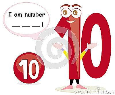 Quiz game with number ten