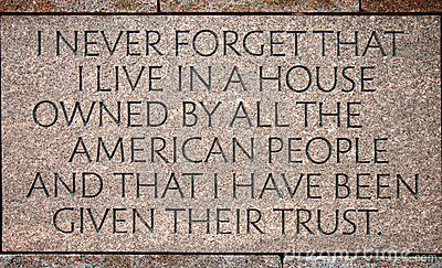 Quotation in Franklin Delano Roosevelt Memorial