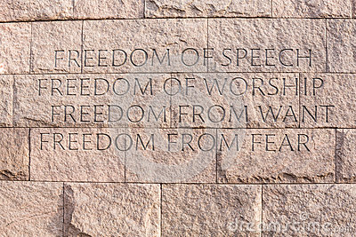 Quote at Roosevelt memorial Washington DC