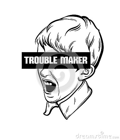 Free Quote Typographical Background ` Trouble Maker` Stock Image - 92800421