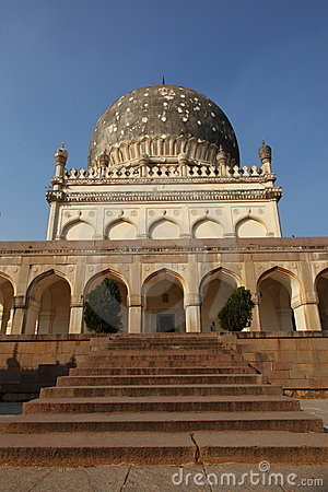 Qutb Shahi Tomb with stairs, Hyderabad