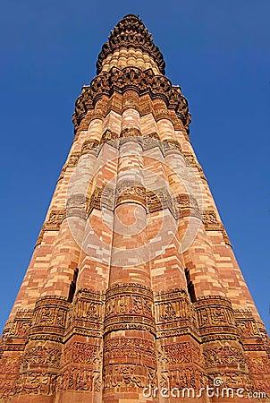 Qutub Minar-the höchstes Ziegelsteinminarett in der Welt
