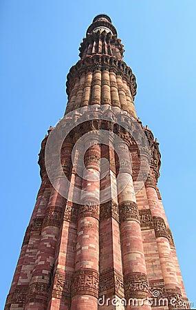 Qutub Minar monument details of masonry