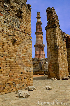 Qutub minar and ruins