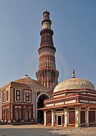 Qutub Minar and Tomb of Imam Zamin