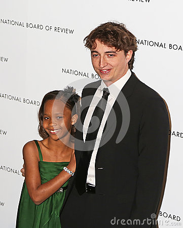 Quvenzhane Wallis and Benh Zeitlin Editorial Stock Photo