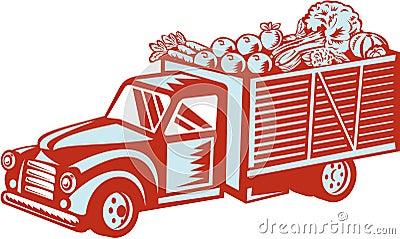 r colte de la livraison de camion pick up de vintage r tro illustration de vecteur image 42014974. Black Bedroom Furniture Sets. Home Design Ideas