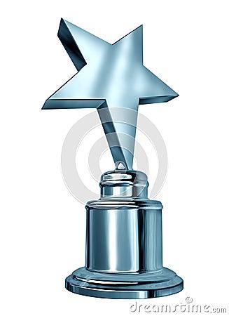 Récompense argentée d étoile