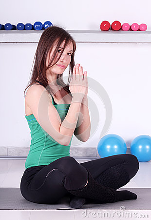 Récréation de forme physique de fille