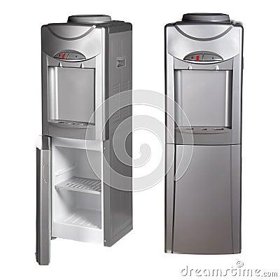 r frig rateur m tallique avec le distributeur de l 39 eau. Black Bedroom Furniture Sets. Home Design Ideas