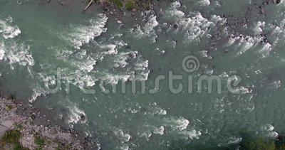 Río de Skykomish almacen de video