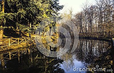Río en el parque de Monza