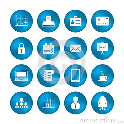 Różnorodne biurowe ikony
