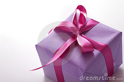 Różowa prezent