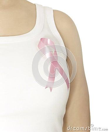 Różowy nowotwór piersi faborek