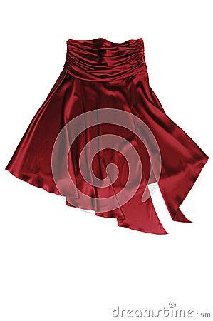 Röd kjol