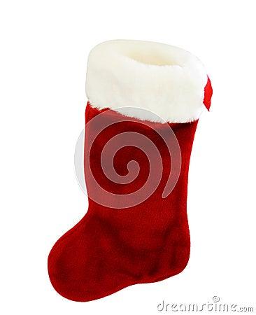 Röd strumpawhite för jul