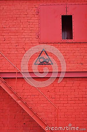 Röd vägg