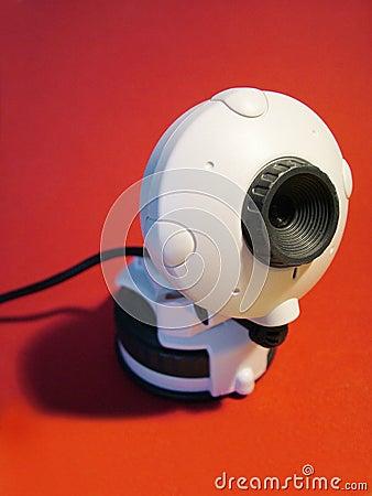 Röd webcam
