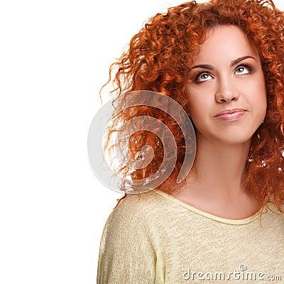 långt hår dominatrix rött hår