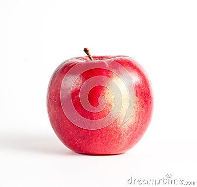 Rött moget för äpple