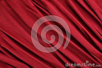 Rött satängtyg