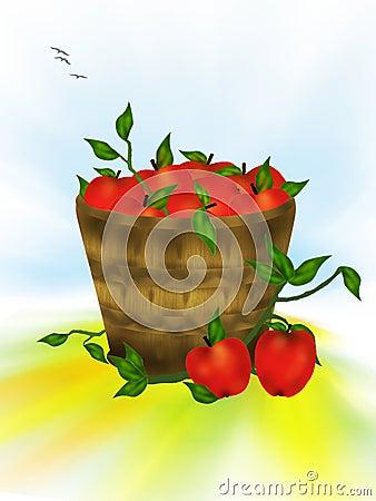 Rött smakligt för äpplen