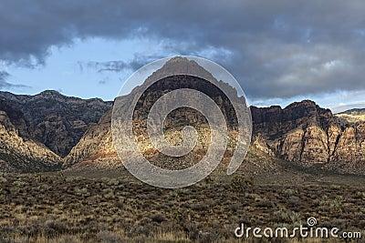 Rött vagga nationell naturvårdsområde Nevada för kanjonen