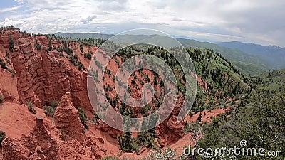 Rött vaggar och kanjonen i Utah arkivfilmer
