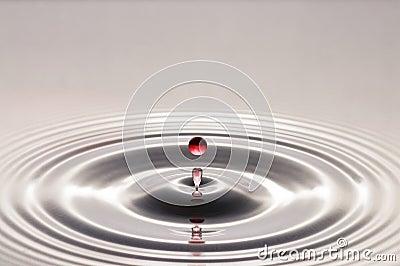Rött vatten för droppe