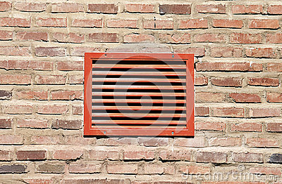Rött ventilationsgaller
