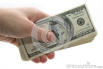 Ręka pieniądze