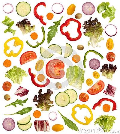 Rżnięci surowi warzywa