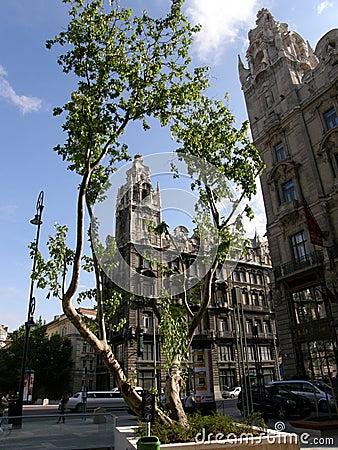 Rákóczi avenue, Budapest, Hungary (editorial) Editorial Photo