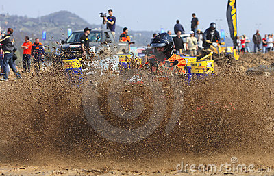 Raça de ATV Foto de Stock Editorial