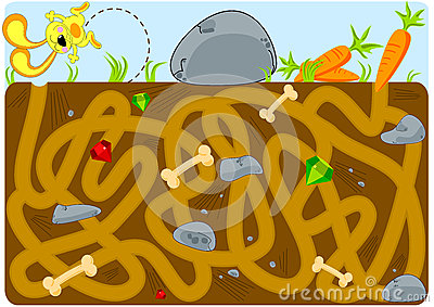 Rabbit and Carrots Tunnel Labyrinth