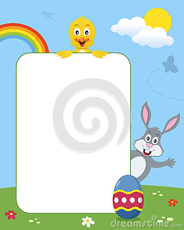 Rabbit & Chick Photo Frame