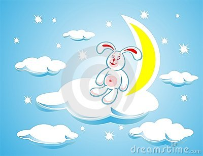 Rabbit on a cloud