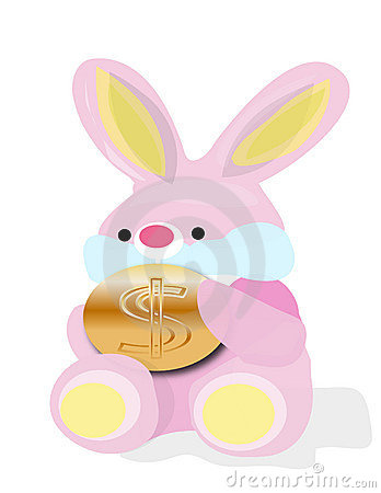 Rabbit with dollars