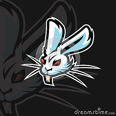 Rabbit e sport logo Stock Photo