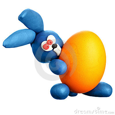 Rabbit with easter egg