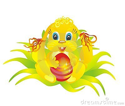 Rabbit And Easter Egg, Vector Illustration Stock Photos - Image: 13082653