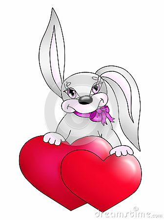 Rabbit with heart(color)