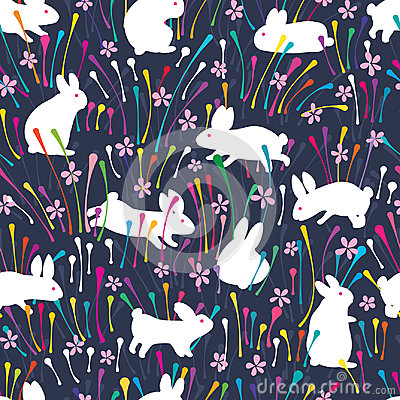 Free Rabbit Line Colorful Flower Seamless Pattern Royalty Free Stock Photo - 95729645