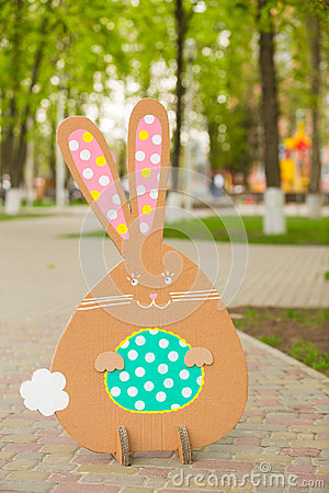 Free Rabbit Made ​​from Organic Paper In Park Stock Photo - 39905160