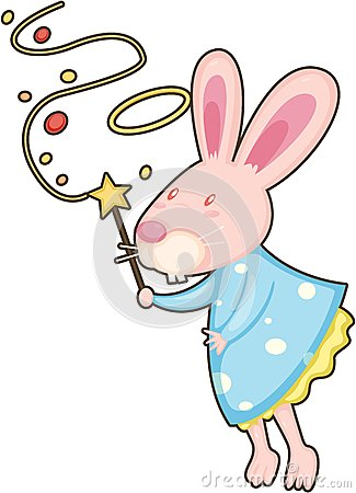 Rabbit with magic stick
