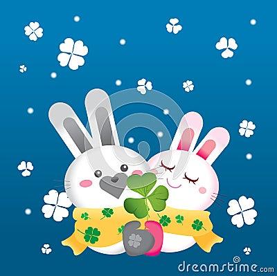Rabbit in snowy day
